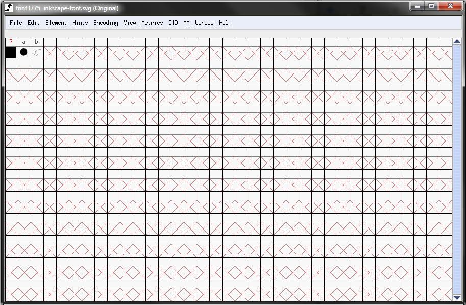 Fontforge Grid